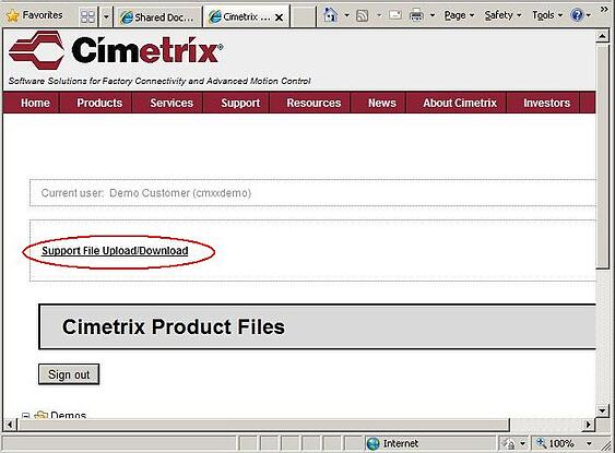 Data Delivery to Cimetrix Support