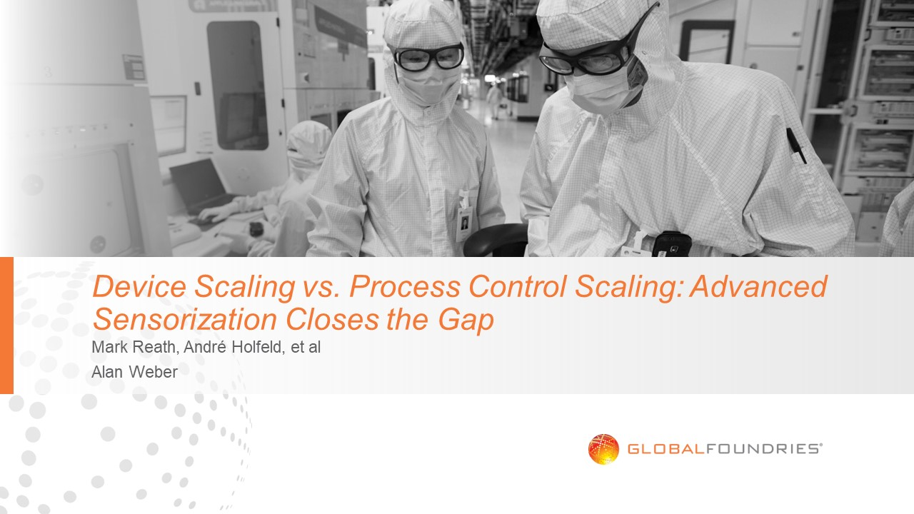 Device Scaling vs. Process Control Scaling: Advanced Sensorization Closes the Gap