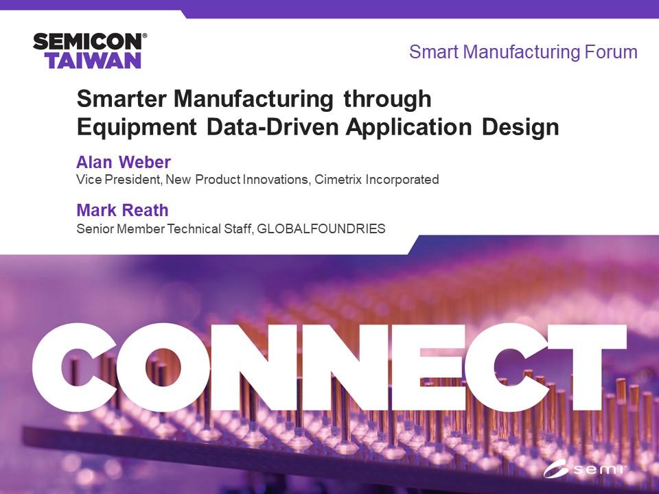 Smarter Manufacturing through Equipment Data-Driven Application Design